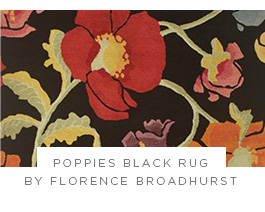 Poppies Black Rug