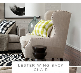 Lester Wing Back Chair