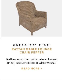 Corso De' Fiori - Rattan Gable Lounge Chair Pepper