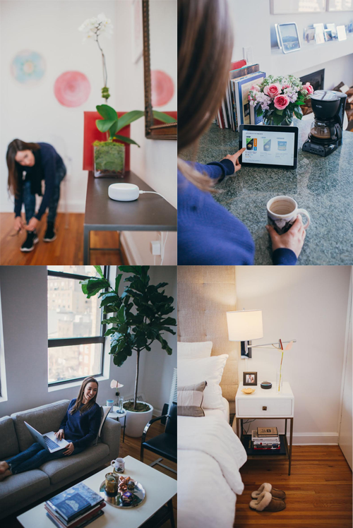 4 images of me interacting with Alexa