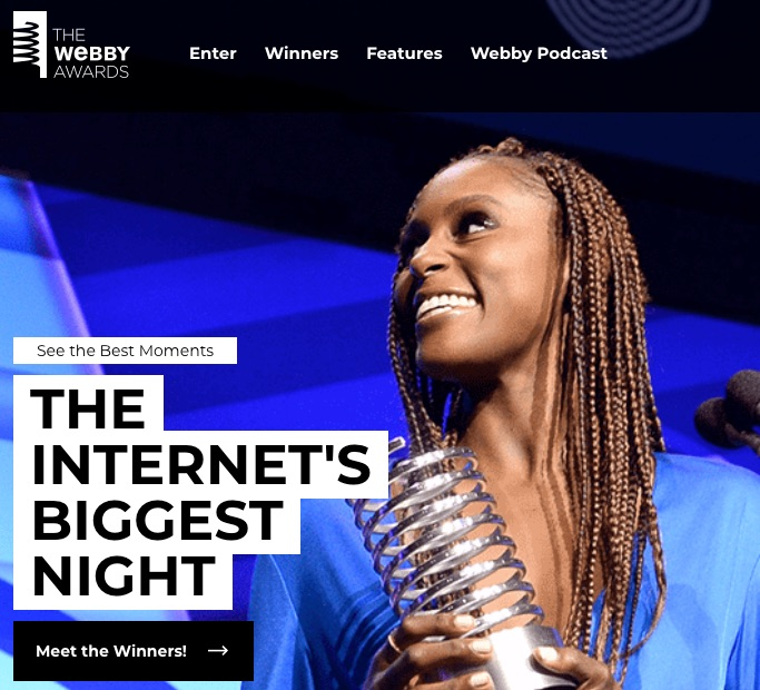 The Webby Awards is the internet's biggest night