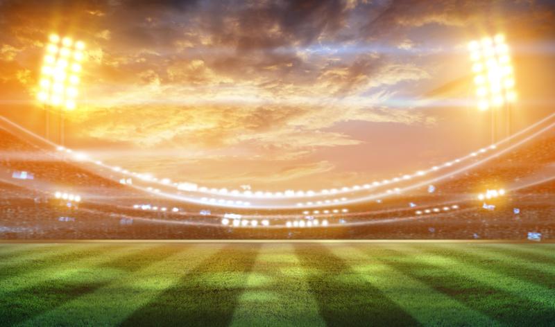 view of stadium from ground