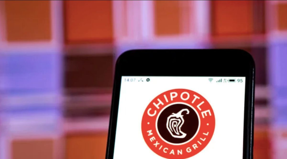 Smart phone open to Chipotle app