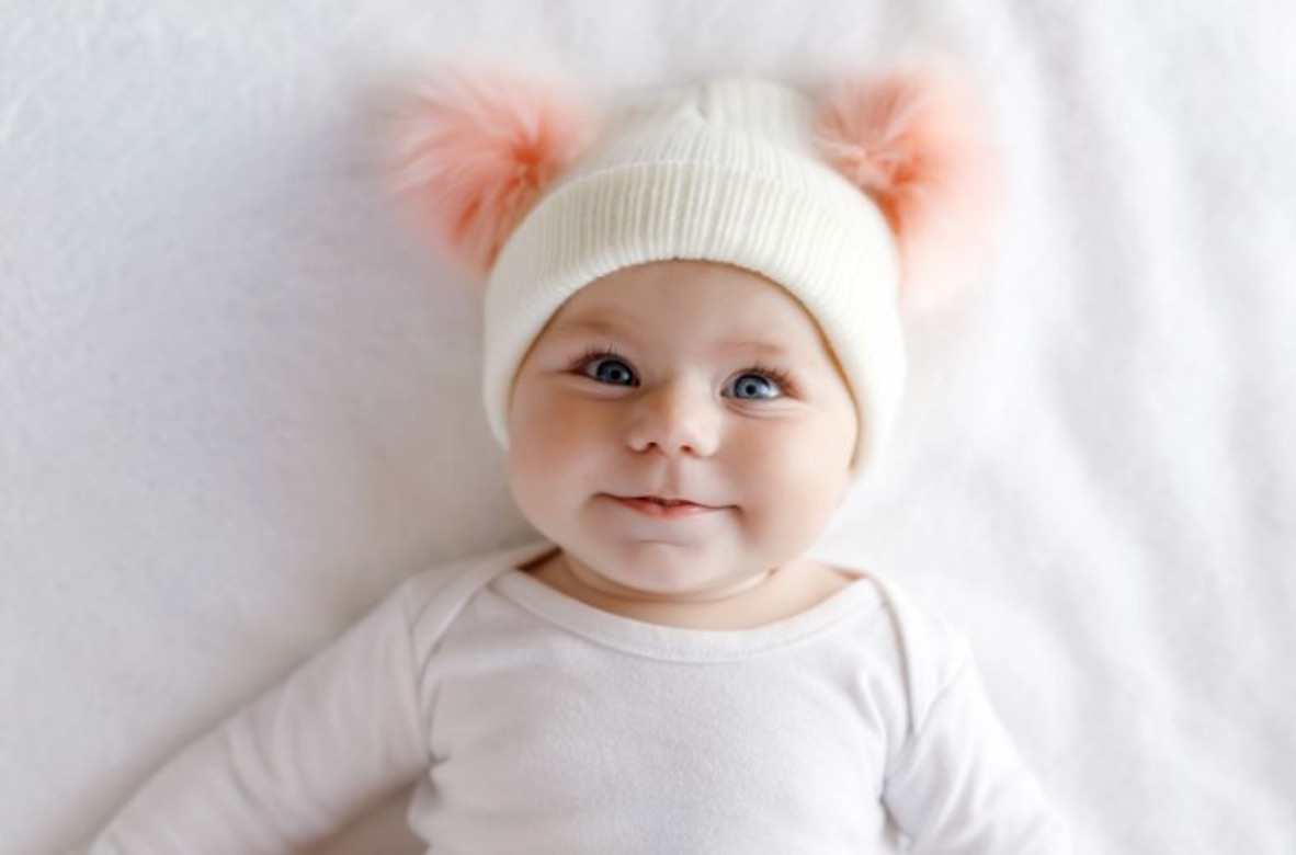 baby girl in a cute hat