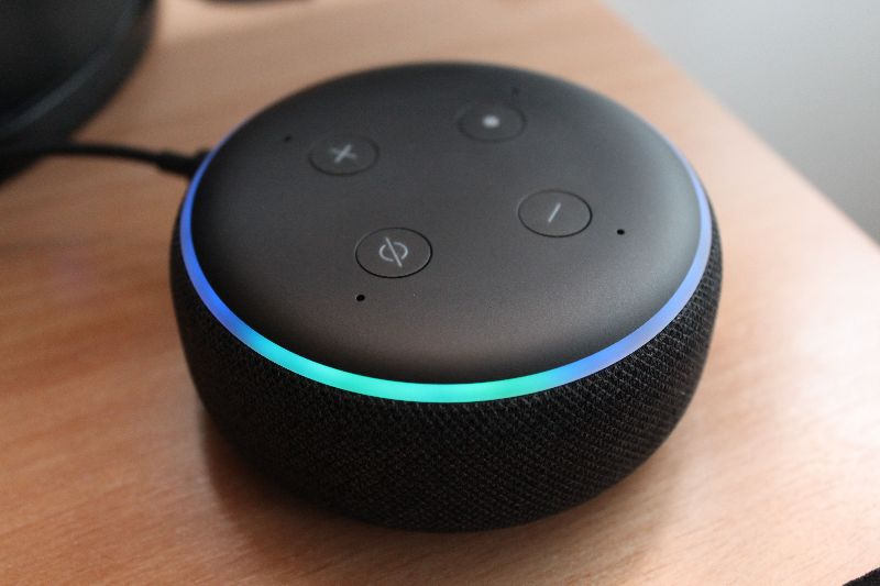Alexa Device with Blue Response Ring