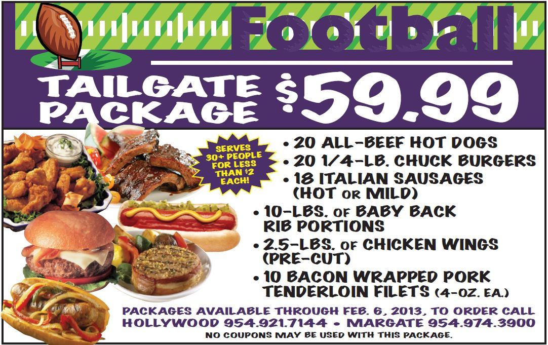 Tailgate Package $59.99