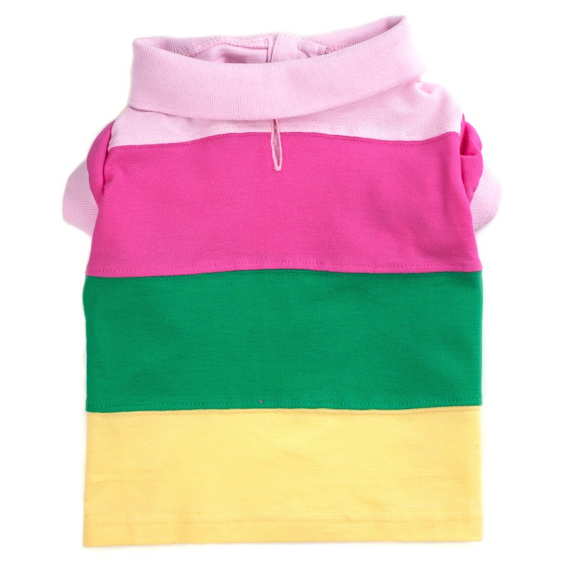 Cute & Fun Pastel Colorblock Striped Dog Polo at Pet Stop Store