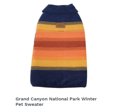 Grand Canyon National Park Winter Pet Sweater