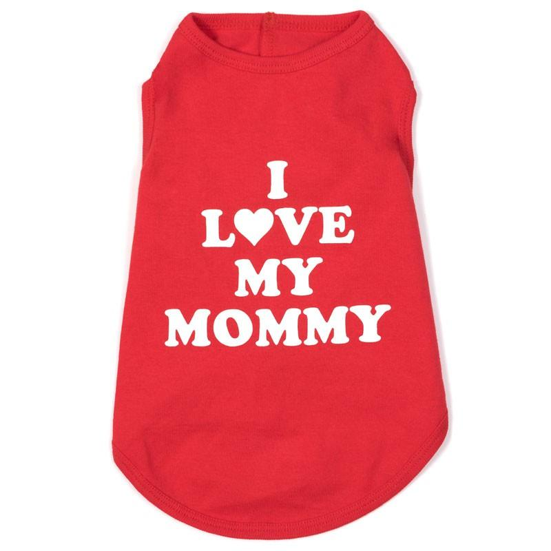 Fun & Play Red I Love Mommy Tee at Pet Stop Store