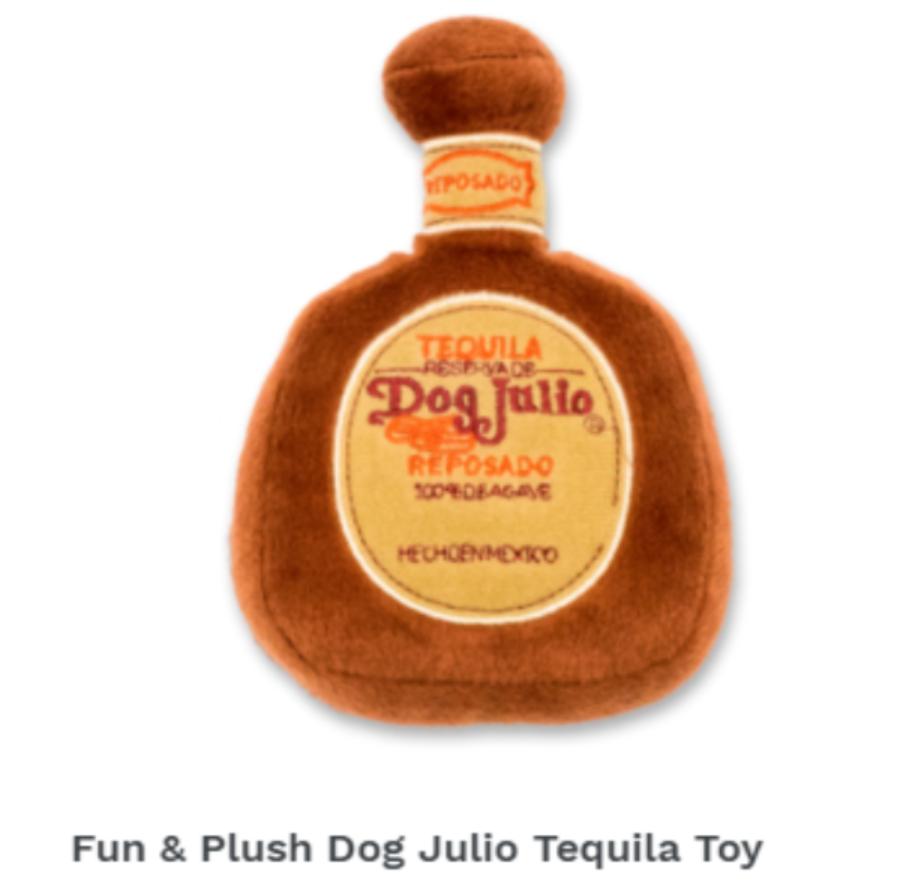 Fun & Plush Dog Julio Tequila Toy