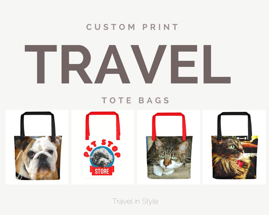 Custom Print Travel Tote Bags