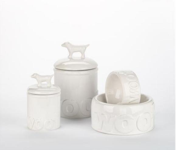 Woof Ceramic Dog Bowls & Treat Jars Kitchen Accessories
