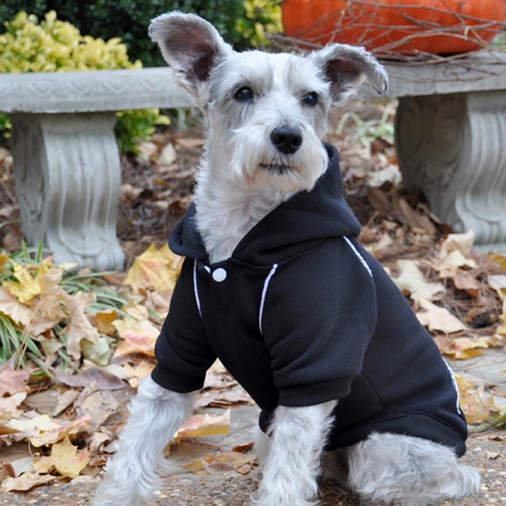 Cute Sporty Jet Black Dog Hoodie at Pet Stop Store