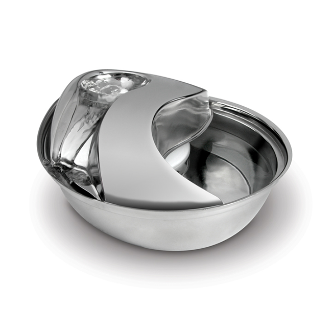 Elegant Stainless Steel Circulating Drinking Bowl for Pets at Pet Stop Store