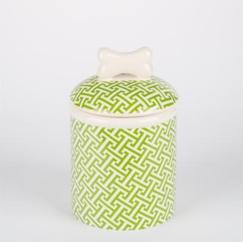 Green Trellis Dog Bowls & Treat Jars Collection Kitchen Accessories
