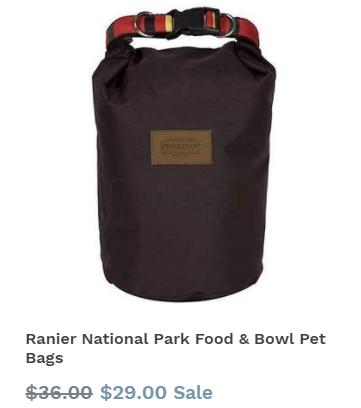 Ranier National Park Food & Bowl Pet Bags