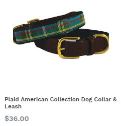 Plaid American Collection Dog Collar at Pet Stop Store
