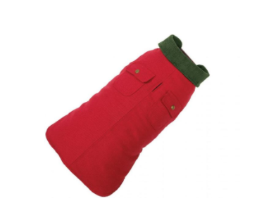 Stylish & Practical Red Chester Winter Barn Dog Coat