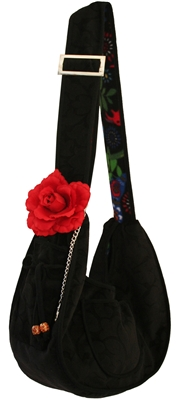 Cute Black Over the Shoulder Puppy Dog Sling Pouch at Pet Stop Store