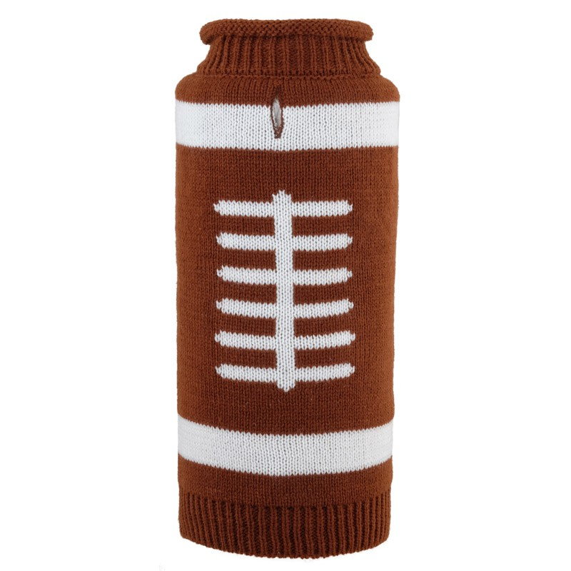 Fun & Playful Touchdown Roll Neck Football Dog Sweater at Pet Stop Store