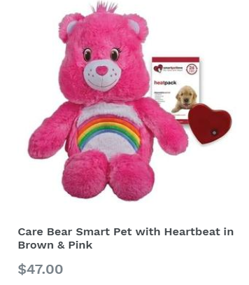 Care Bear Smart Pet with Heartbeat in Brown & Pink