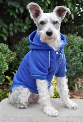 Casual Nautical Blue Sports Dog Sweatshirt with Hoodie at Pet Stop Store