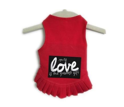 My Love Is The Greatest Gift Flounce Red Dog Dress at Pet Stop Store