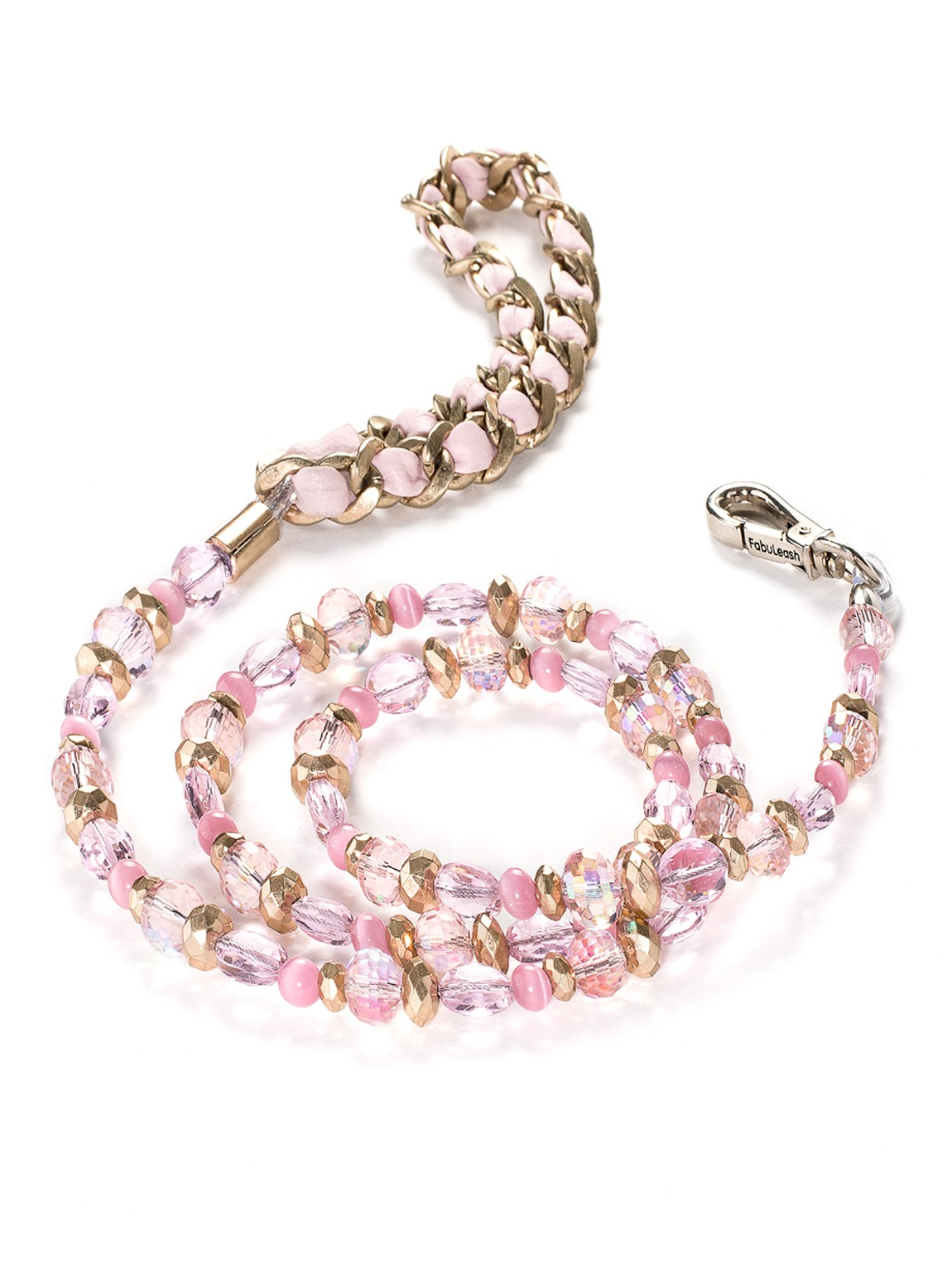 Fancy 5th Ave Rose Pink Beaded Dog Leash at Pet Stop Store