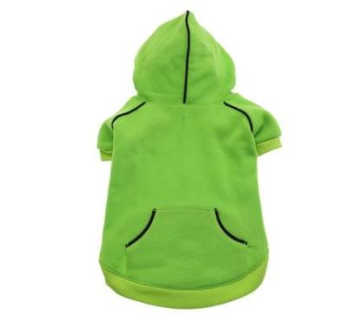 Casual Green Flash Sports Dog Sweatshirt with Hoodie