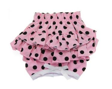 Cute & Fancy Pink & Black Polka Dot Panties for Dogs