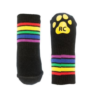 Cute & Fun Rainbow Pride Stried Dog Socks