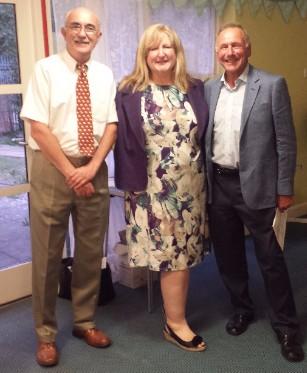 Mel Akers (left), Kathryn Davis (centre), Alan Purchon (right)