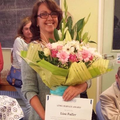 Lisa Fuller with her Long Service Award