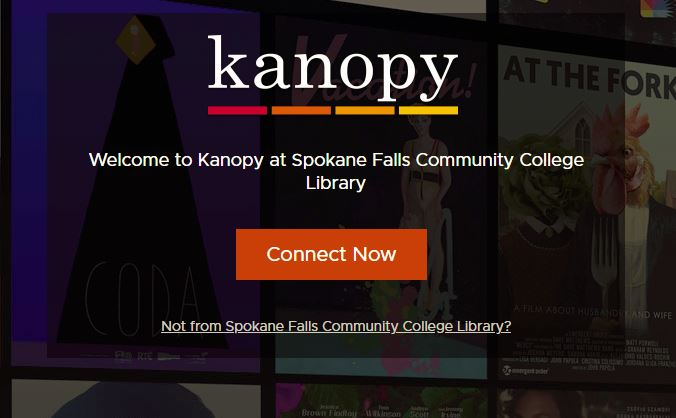 Image of Kanopy Video Streaming Homepage.