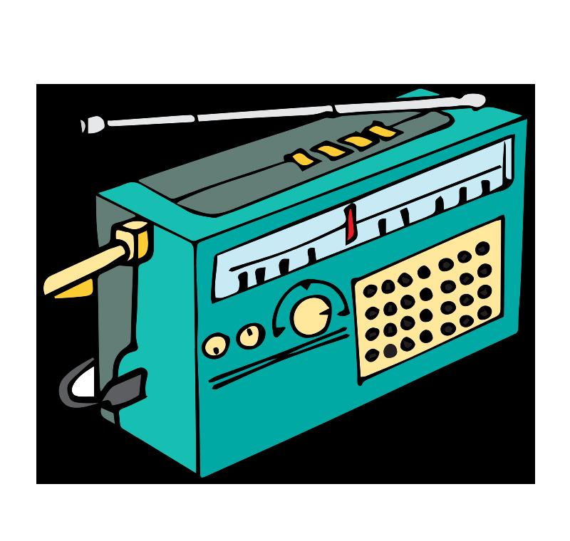 Cartoon image of a radio