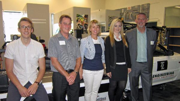 Andrew Browton (ILC OT), Geoff Curtis (Wesbar Vanquip), Simone Robinson (ILC OT) , Zoe and Gary Dunkerley (TL Engineering)