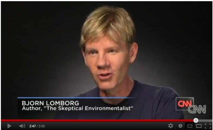Link to video on CNN; Lomborg talks about the American natural gas revolution.