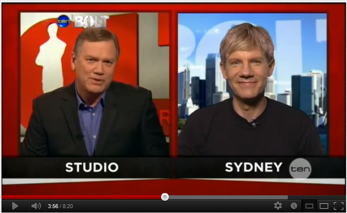 Video with Bjorn Lomborg on The Bolt Report, Network Ten in Australia