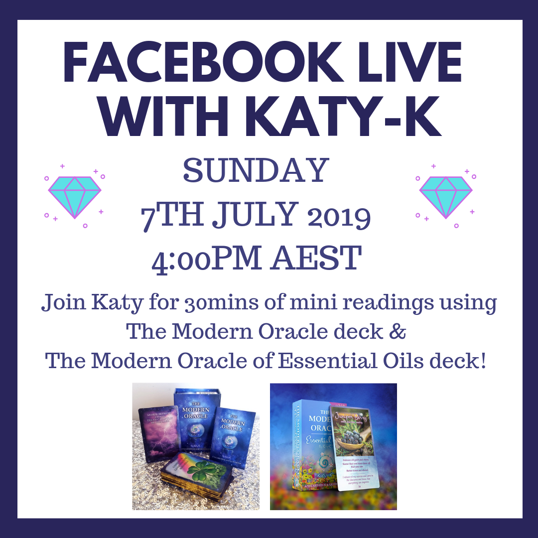Facebook Live with Katy-K - Sunday 7th July 2019