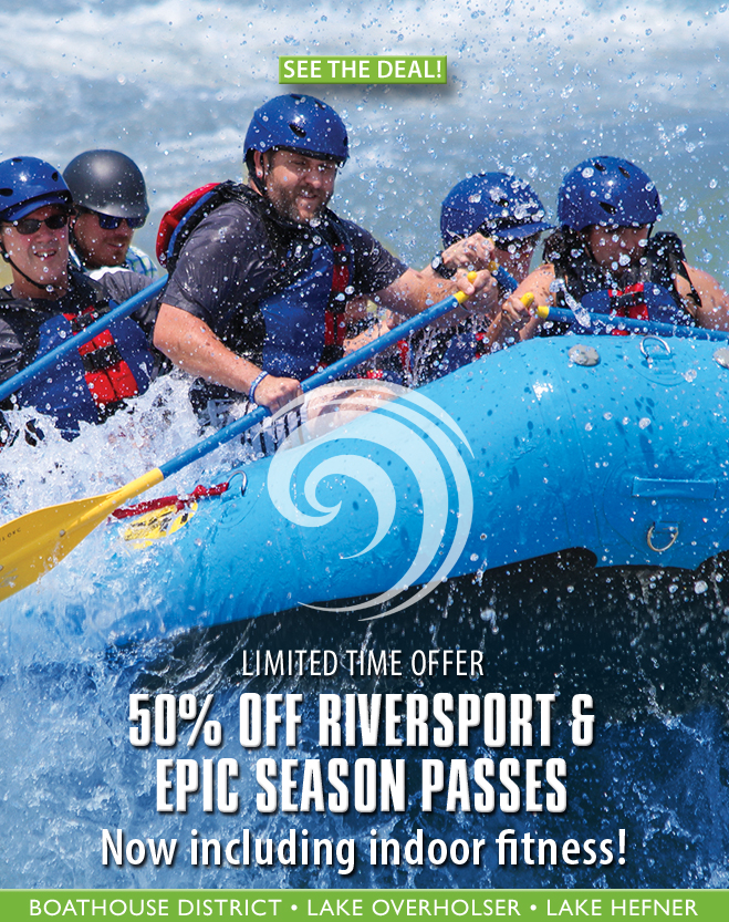 50% off RIVERSPORT and Epic Season Passes