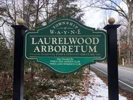 Laurelwood Arboretum sign
