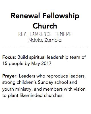 Renewal Fellowship Church, Ndola Zambia