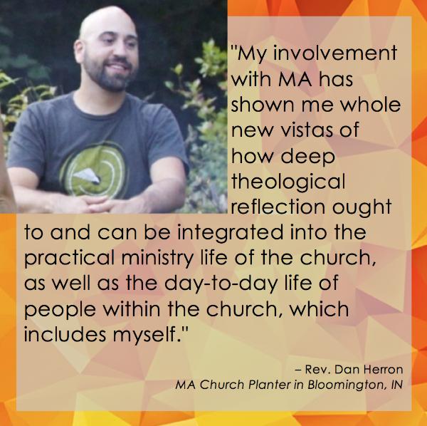 Quote from Rev. Dan Herron, MA Church Planter