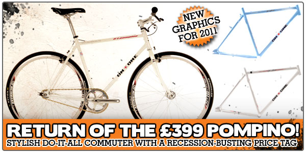 Return of the £399 Pompino! Stylish do-it-all commuter with a recession-busting price tag - now available with new graphics for 2011