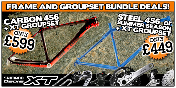 Frame and groupset bundle deals! Get your hands on a 456 frame with XT groupset from only £449!