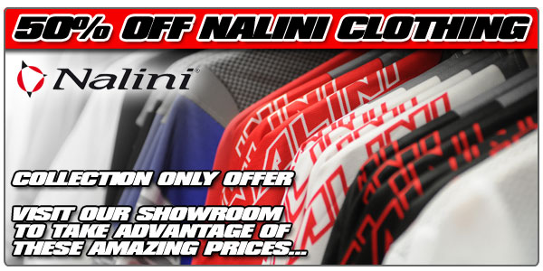 50% off all Nalini clothing - showroom only deal...