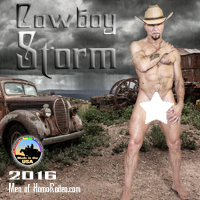 """2016 """"Cowboy Storm"""" full nude calendar"""