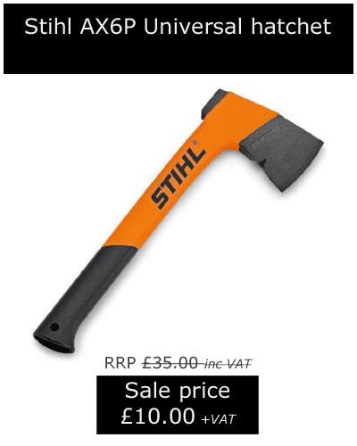 Stihl AX6P Universal hatchet, now only £10.00 +VAT!