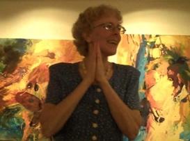 Julie Bernstein Engelmann speaking at Southern Alleghenies Museum of Art