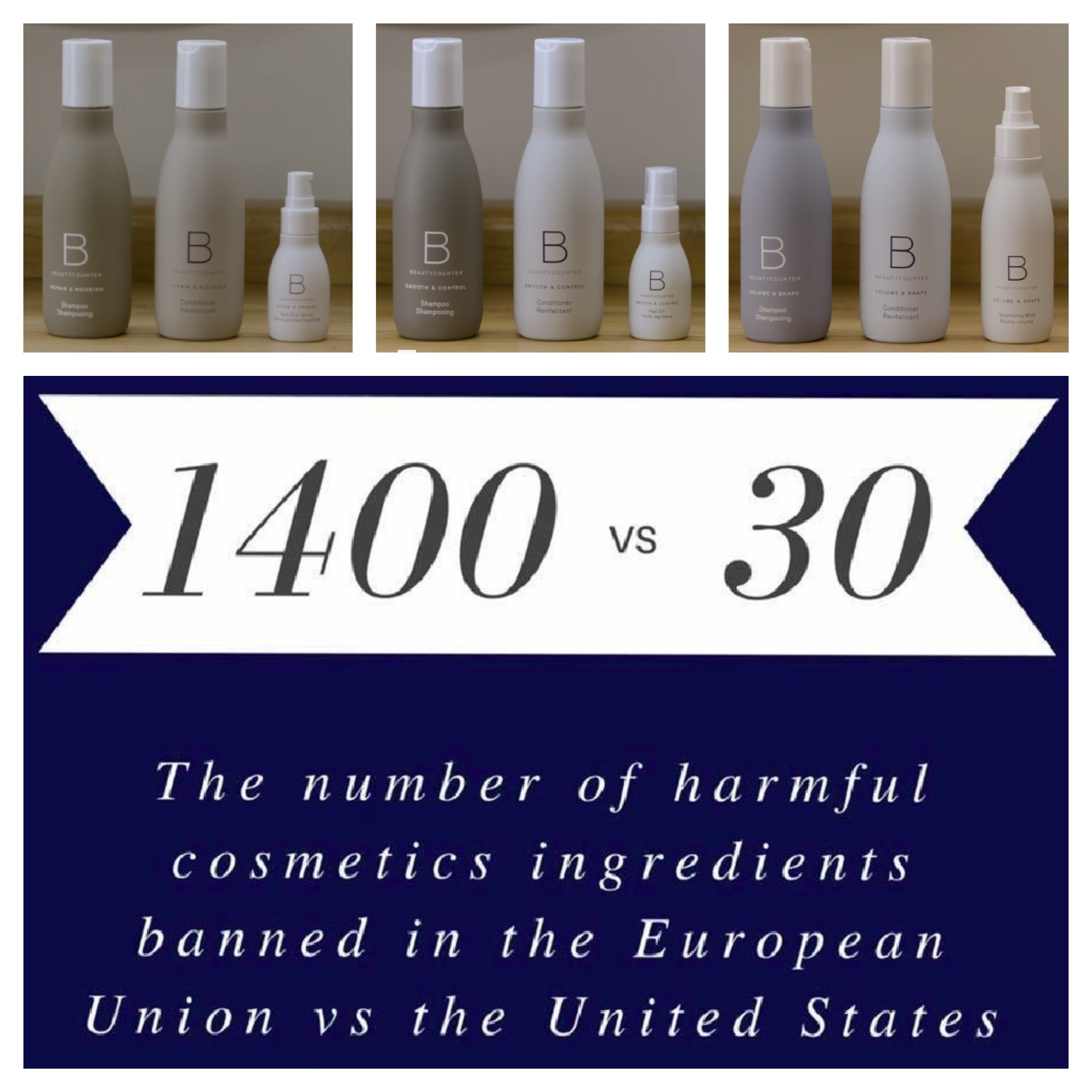 Hair Care Collections and Beautycounter Stats